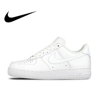 38a70bdf Оригинальный Официальный Nike AIR FORCE 1 AF1 Для мужчин дышащая Скейтбординг  обувь с низким верхом кроссовки спортивные плоским классический откр.