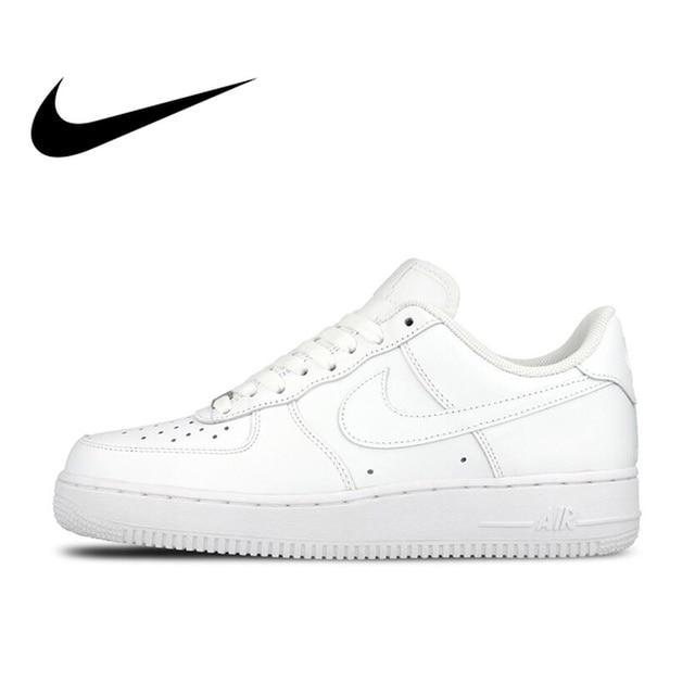 Original oficial Nike AIR FORCE 1 AF1 transpirable hombres zapatos de skate  zapatos Low-top. Sitúa el cursor encima para ... ca555a2ee8c29