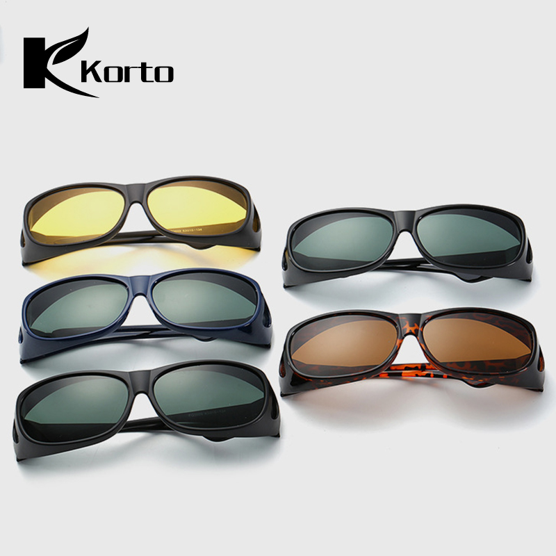 Overzet Zonnebrillen for Men Fit Over Goggle Polarized Round Driver Shades Yellow Driving Sun Glasses 2019 Trending Sunglass in Men 39 s Sunglasses from Apparel Accessories