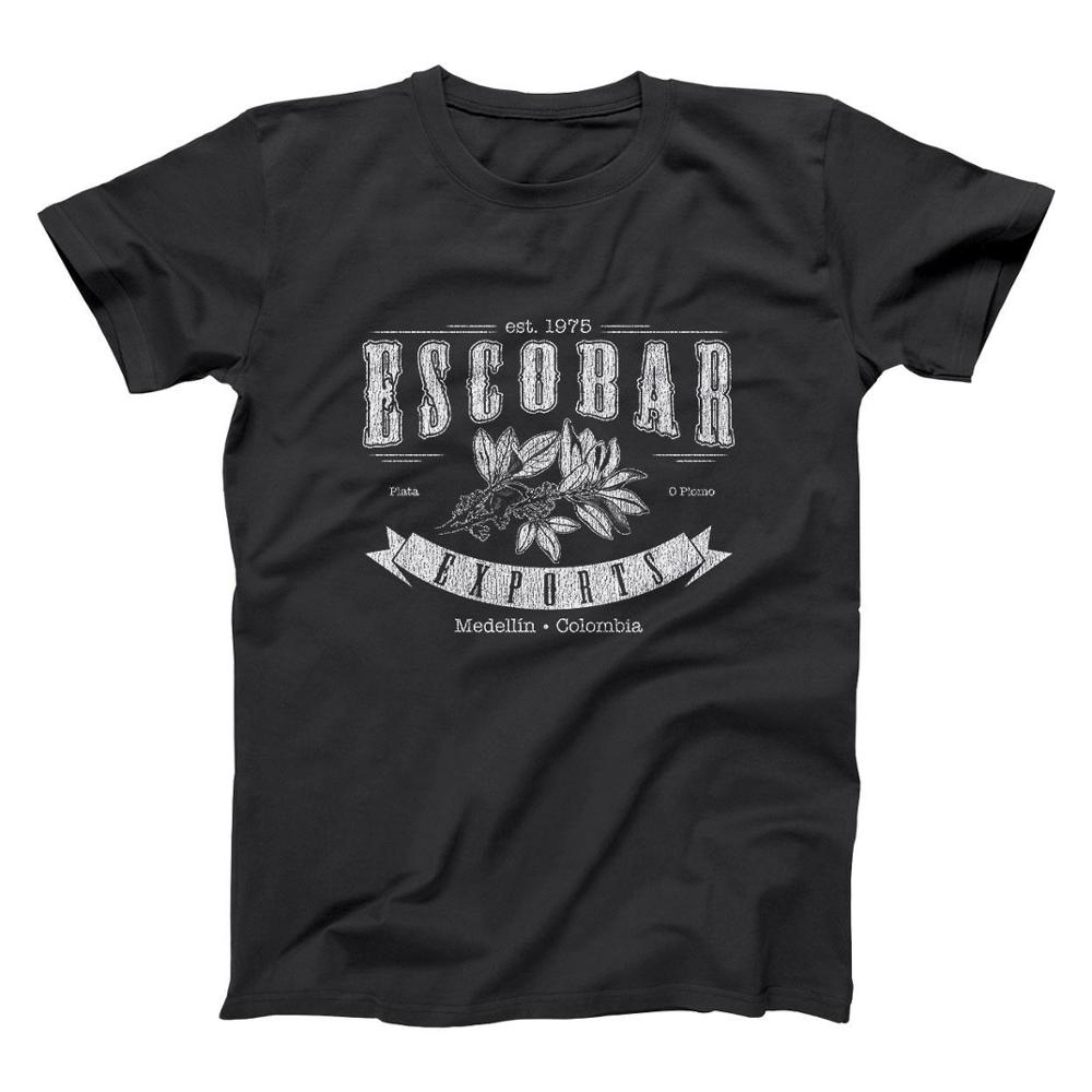 Escobar Exports Pablo Funny Humor Plata O Plomo Narcos Medellin Men'S T-Shirt 2019 New Arrival Casual Men Clothing Nerd T Shirts