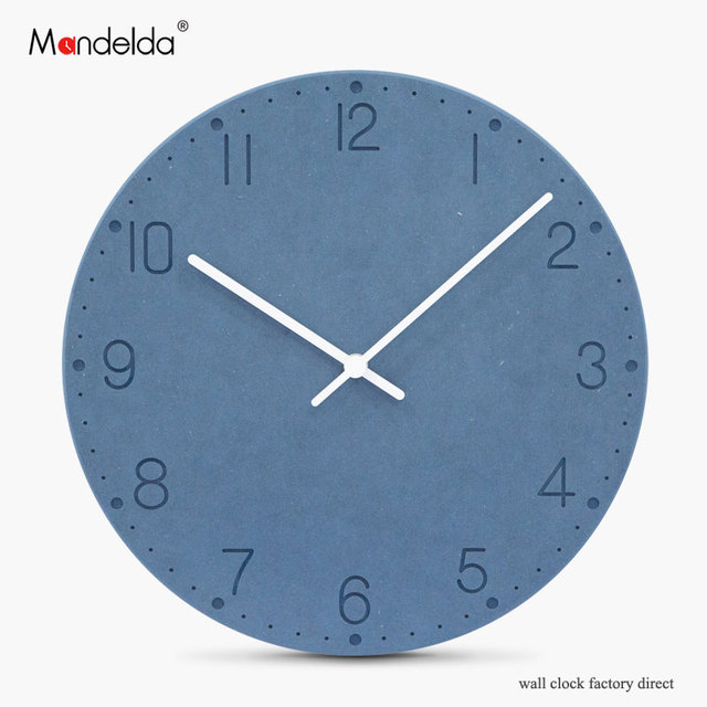 Baru Desain Modern Jam Dinding Dekorasi Rumah Mewah Digital Silent Kayu  Bulat Watch Wall Eropa Jam 0c1e0b7d80