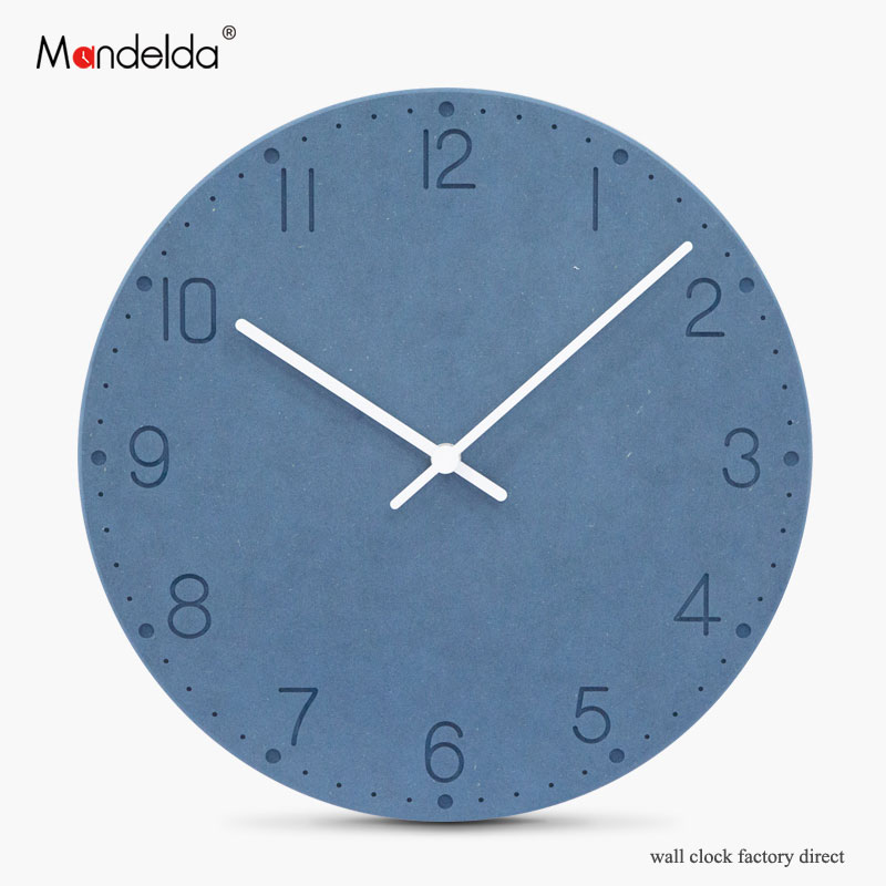 New Design Modern Wall Clock Home Decoration Luxury Digital Silent Round Wooden Watch Wall European Clock Wall for Living Room in Wall Clocks from Home Garden