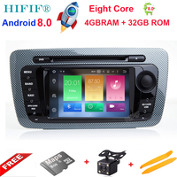 IPS Android 8.0 CAR DVD GPS Player Bluetooth Car Sat Nav Stereo Radio Navigation 2 Din GPS Head Unit For SEAT IBIZA 2009 2013
