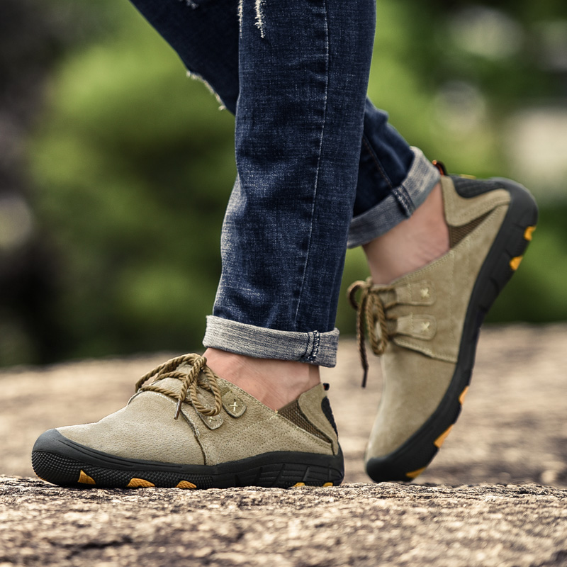 Купить с кэшбэком Fashion Casual Sneakers Men Leather Shoes Men Loafers Suede Men Winter Shoes Outdoor Training Shoes Walking Zapatos