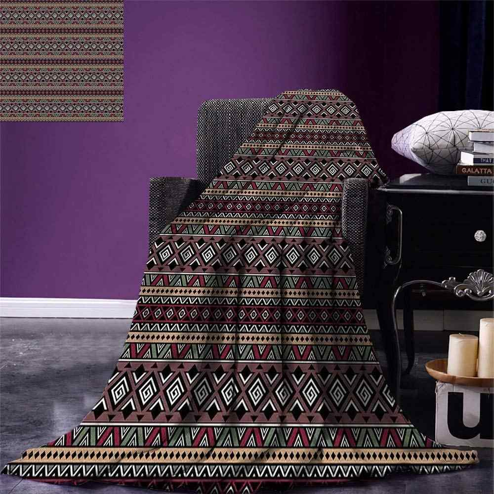 Ethnische Werfen Horizontale Grenzen von Primitive Kulturen Tribal Art Inspirationen Aztec Traditionelle Warme Mikrofaser Decke