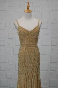 Image 4 - JaneViniเพชรทองลูกปัดแอฟริกันEvening Dresses 2018หรูหราอาหรับเงือกBacklessแม่ของชุดเจ้าสาวชุดอย่างเป็นทางการ