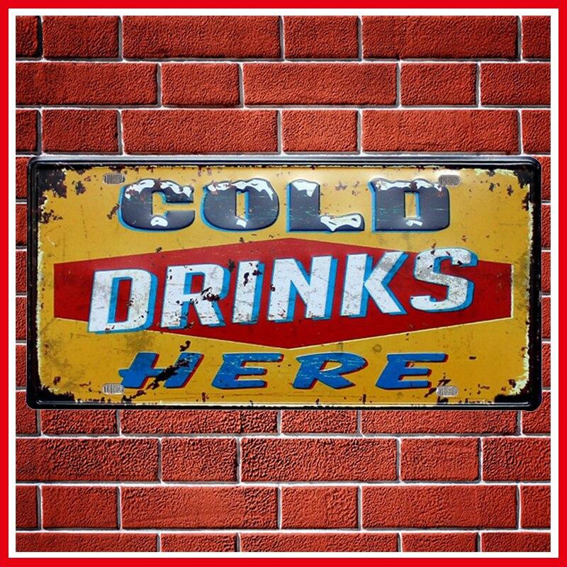 ᗑ】Nueva fría bebidas cerveza Marcos de matrícula vintage ...