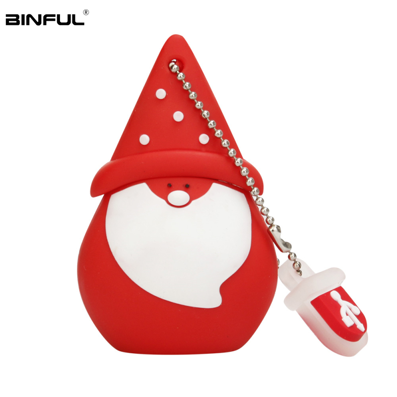 Image 5 - Santa Claus Wholesale Usb Flash Drive 4GB 8GB 16GB 32GB 64GB 128GB Pen Drive Usb 2.0 Cartoon Snowman Lovely Gift Pendrive U Disk-in USB Flash Drives from Computer & Office