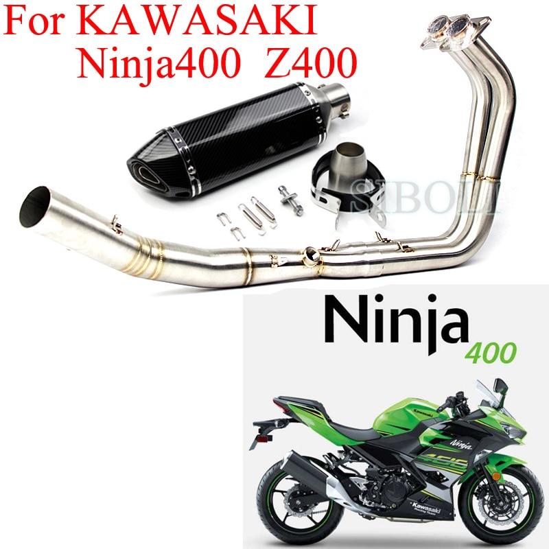 ninja 400 z400 motorcycle exhaust full systems header pipe with muffler db killer slip on exhaust for kawasaki ninja 400 z400
