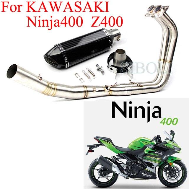 US $106 05 32% OFF|Ninja 400 Z400 Motorcycle Exhaust Full Systems Header  Pipe With Muffler DB Killer Slip on Exhaust For Kawasaki Ninja 400 Z400-in