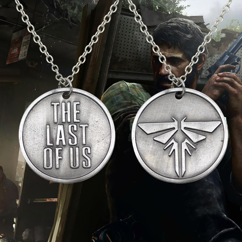 Fashion Movie Jewelry The Last Survivor Logo The Last Of Us Brand Round Pendant Necklace For Men Women Gift Alloy Silver PLated ...