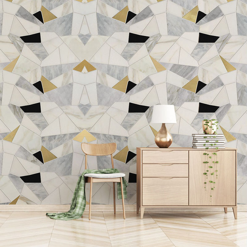 Custom Mural Wallpaper 3D Geometric Abstract Gold Polygon Marble Photo Wallpaper Living Room Bedroom Backdrop Wall 3D Home Decor custom mural wallpaper european style 3d stereoscopic new york city bedroom living room tv backdrop photo wallpaper home decor