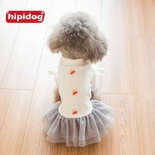 ФОТО hipidog 2017 new arrival puppy dog princess shirt dress outwear spring autumn pet dog coat jacket apparel outfit for small dogs