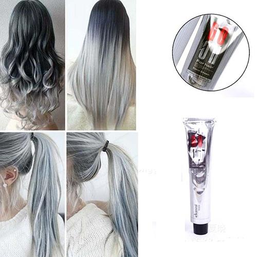 HOT 1Pc 100Ml Fashion Light Gray Color Natural Permanent Super Hair Dye Cream New