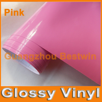 Free shipping car styling glossy vinyl 1.52mx30m high quality car sticker air bubble free  on whole car body/motorbike