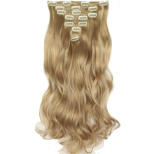 TOPREETY Heat Resistant B5 Synthetic Fiber 130gr 20″ 50cm Body Wave Clip in hair Extensions 7pcs/set Full Head