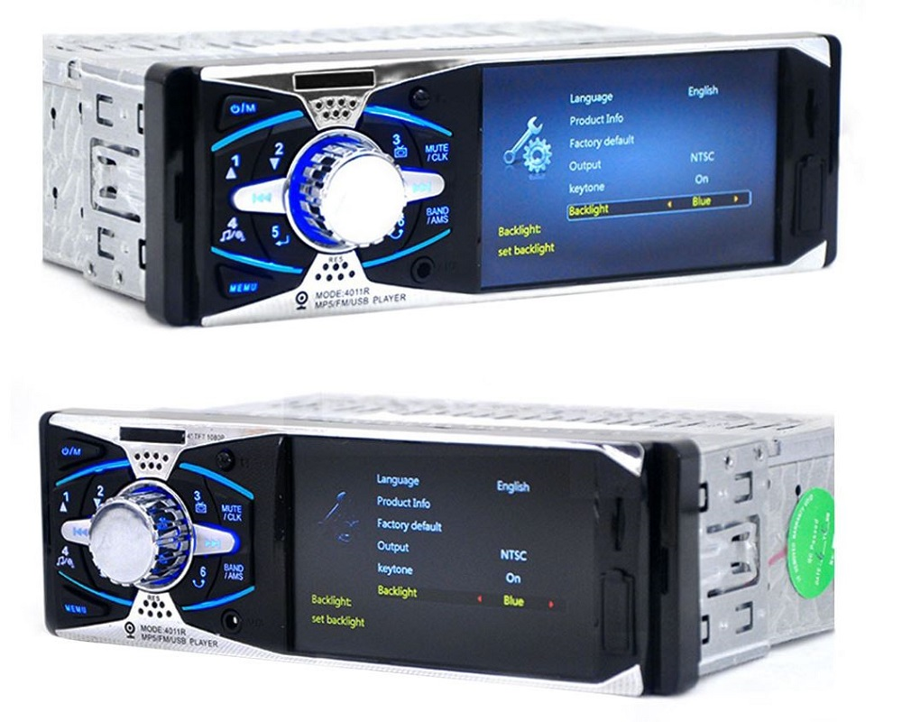 ФОТО 1 Din Car Radio Player Auto Audio Stereo In-dash 12V Car MP5 Player 4 Inch LCD FM USB AUX SD Ports Support Rear View Camera