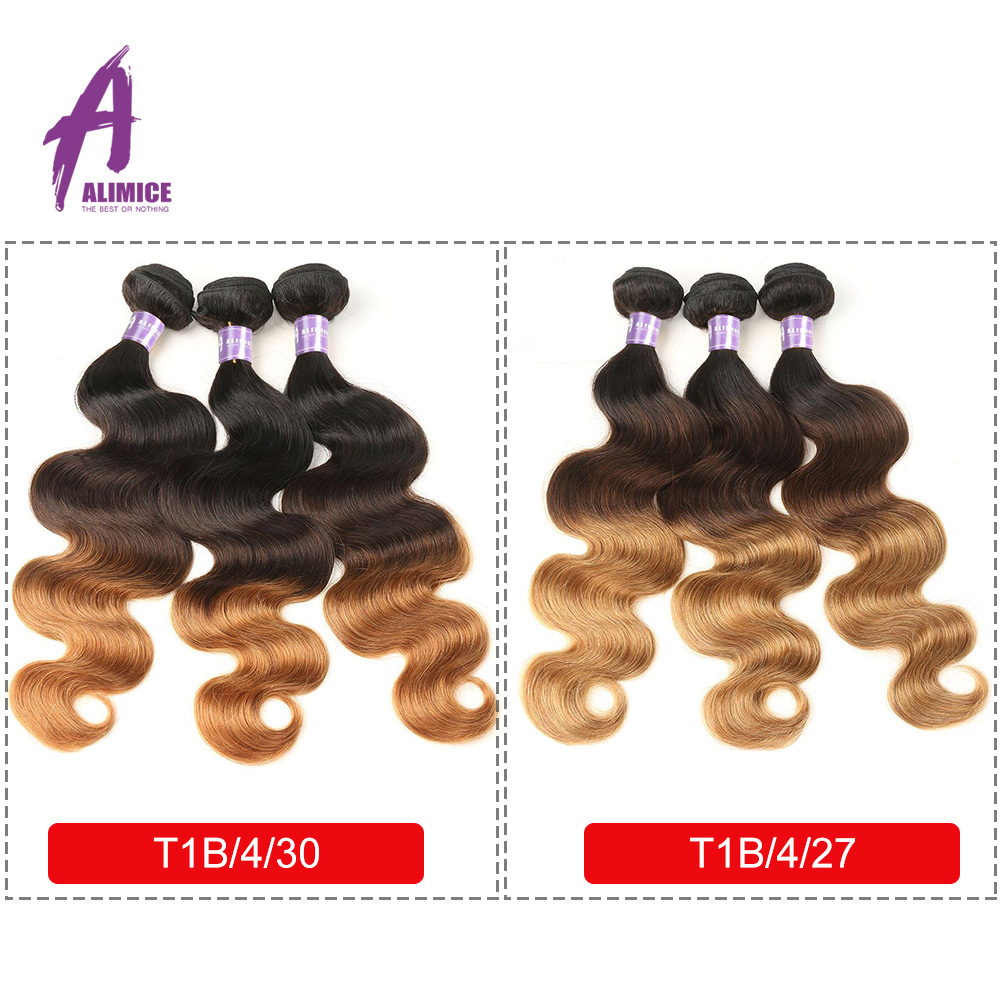 Alimice Hair Malaysian Body Wave Hair Extension Ikke-Remy Hair 100% - Menneskehår (sort) - Foto 2