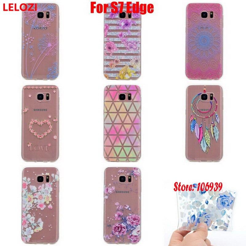 LELOZI Soft Transparent TPU Clear Silicone Gel Fundas Coque Case Cover For Samsung Galaxy S7 Edge SM G935F SM-G935 SM-G935F
