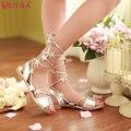 QUTAA Простой Женская Мода Квартиры Обувь Лодыжки Ремень Сандалии Женщин Дамы Свадебная Обувь Размер 34-39