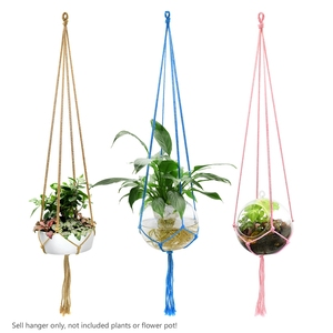 Image 5 - WITUSE Colorful Cotton Rope Pot Holder Hanging Basket Simple Flower Hanger Ceramic Planter Hanging Tool Balcony Pot Room Decor