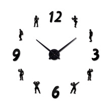 new arrival Quartz clocks fashion watches 3d real big wall clock acrylic mirror sticker diy living room modern decor character