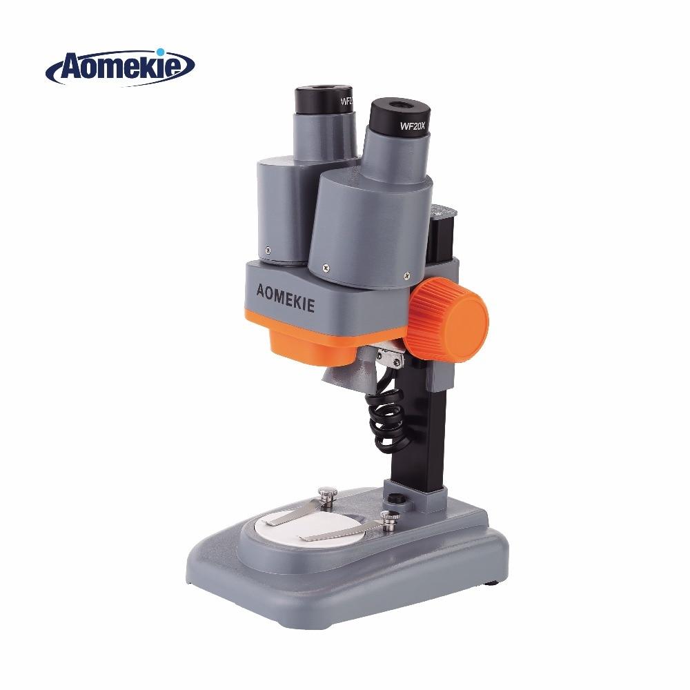 Microscope Science Top Stereo AOMEKIE Specimen Watching 40X Education PCB Phone Repair Tool Kids LED Binocular Solder Mineral