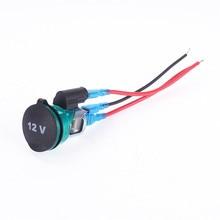 Car Cigarette Lighter with Indicator light12V Socket Plug Adapter Charger Waterproof cigarette lighter seat for motorcycle 12-24