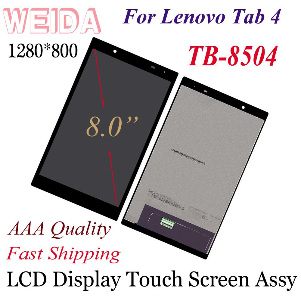 WEIDA LCD Display Replacement Parts 8 For Lenovo Tab 4 8504 TB 8504N Tablet PC LCD Display Touch Screen Assembly 8504F 8504X