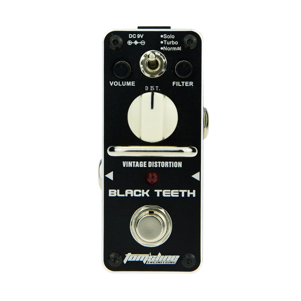 AROMA ABT-3 Guitar Effect Pedal Black Teeth Vintage Distortion Electric Guitar Effect Pedal Mini Single Effect with True Bypass amo 3 mario bit crusher electric guitar effect pedal aroma mini digital pedals full metal shell with true bypass