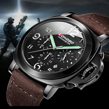 Fashion Famous Brand LONGBO Watches Men Role Dial Genuine Leather Water Resistant Quartz military Sports Watches montre de luxe