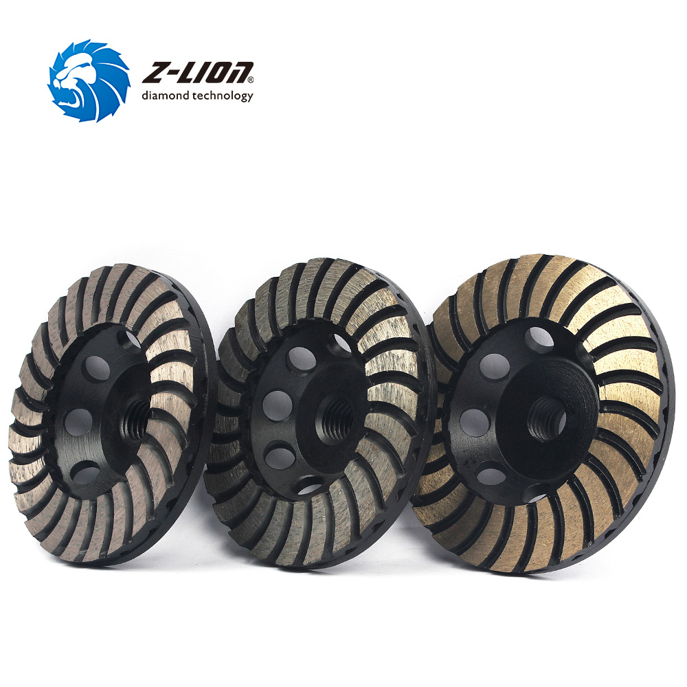 Z-LION 3pcs/lot 4 inch Diamond Grinding Wheel Disc Concrete Marble Granite Grinding Tool Double Layer Segment Cup Wheel Dish 2pk diamond double row grinding cup wheel for granite and hard material diameter 4 5 115mm bore 22 23mm with 16mm washer