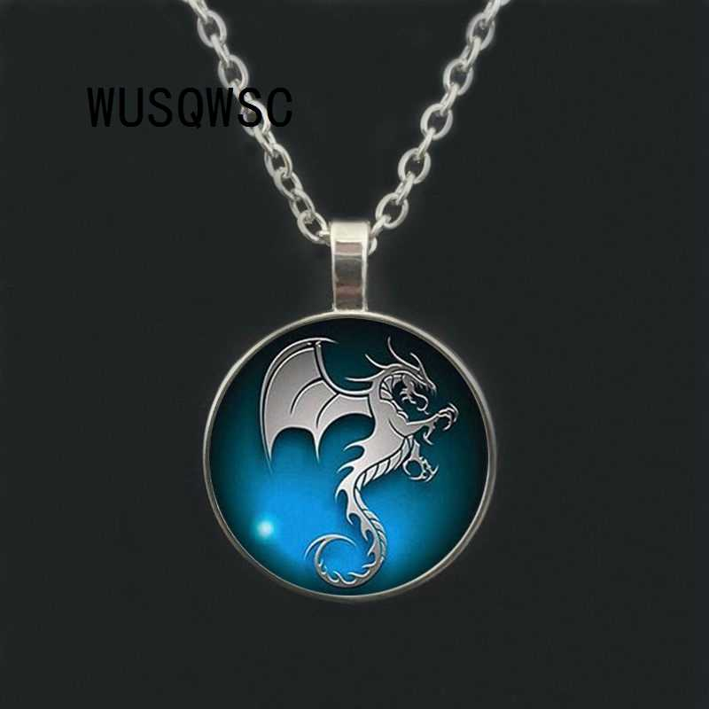WUSQWSC New Glass Pendant Necklace, 3 / Color 2018 New Boy Girl Necklace