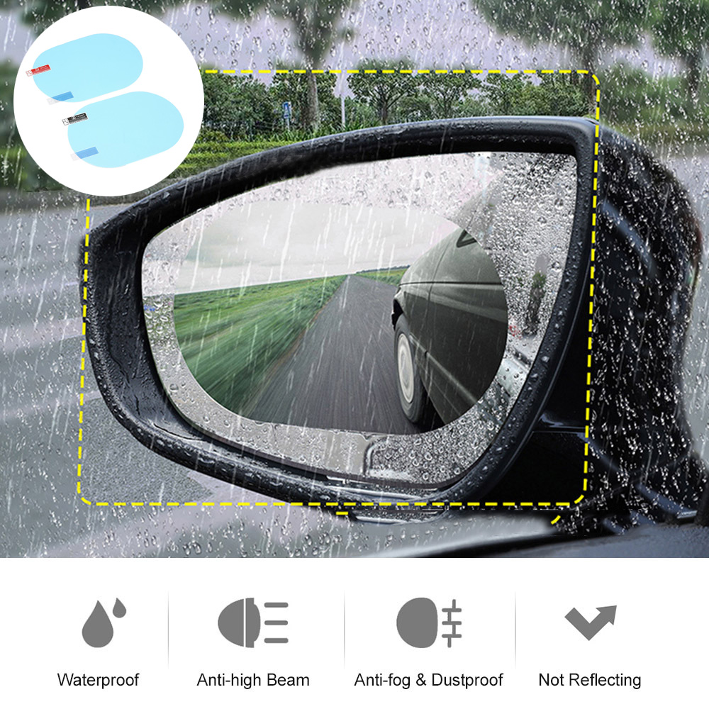 Protective-Film Rearview-Mirrors Car-Accessories Car-Rainproof-Film Anti-Fog 2pcs