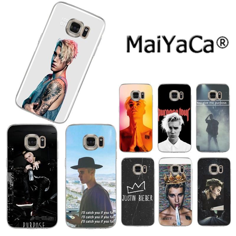 MaiYaCa Justin Bieber Purpose Super Star Colorful Phone Case for Samsung S3 S4 S5 S6 S6edge S6plus S7 S7edge S8 S8plus