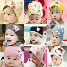 2016 NEW Cute Winter Autumn Newborn Crochet warm Cotton Baby beanie Hat Girl Boy Cap Children Unisex Bear Infant