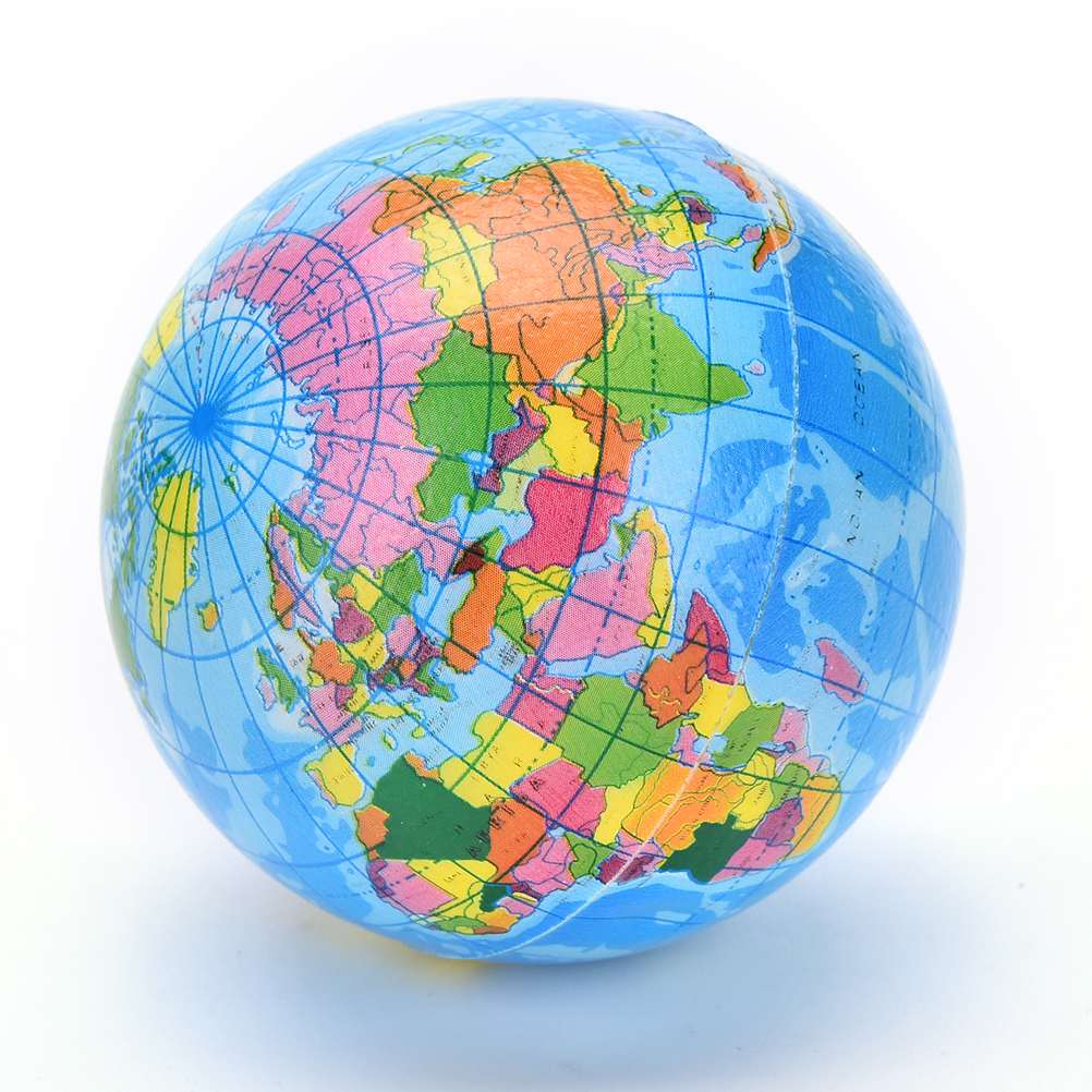 Inflatable Globe World Map. PU Globe Toy Ball Kids Learning and Playing Geography World Map Baby Early  Educational Teaching Tool Beach in Balls from Toys Hobbies on