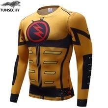 Men Long Sleeve Compression 3D T Shirt Marvel Superhero Superman Captain America Tights Fitness Men Clothing