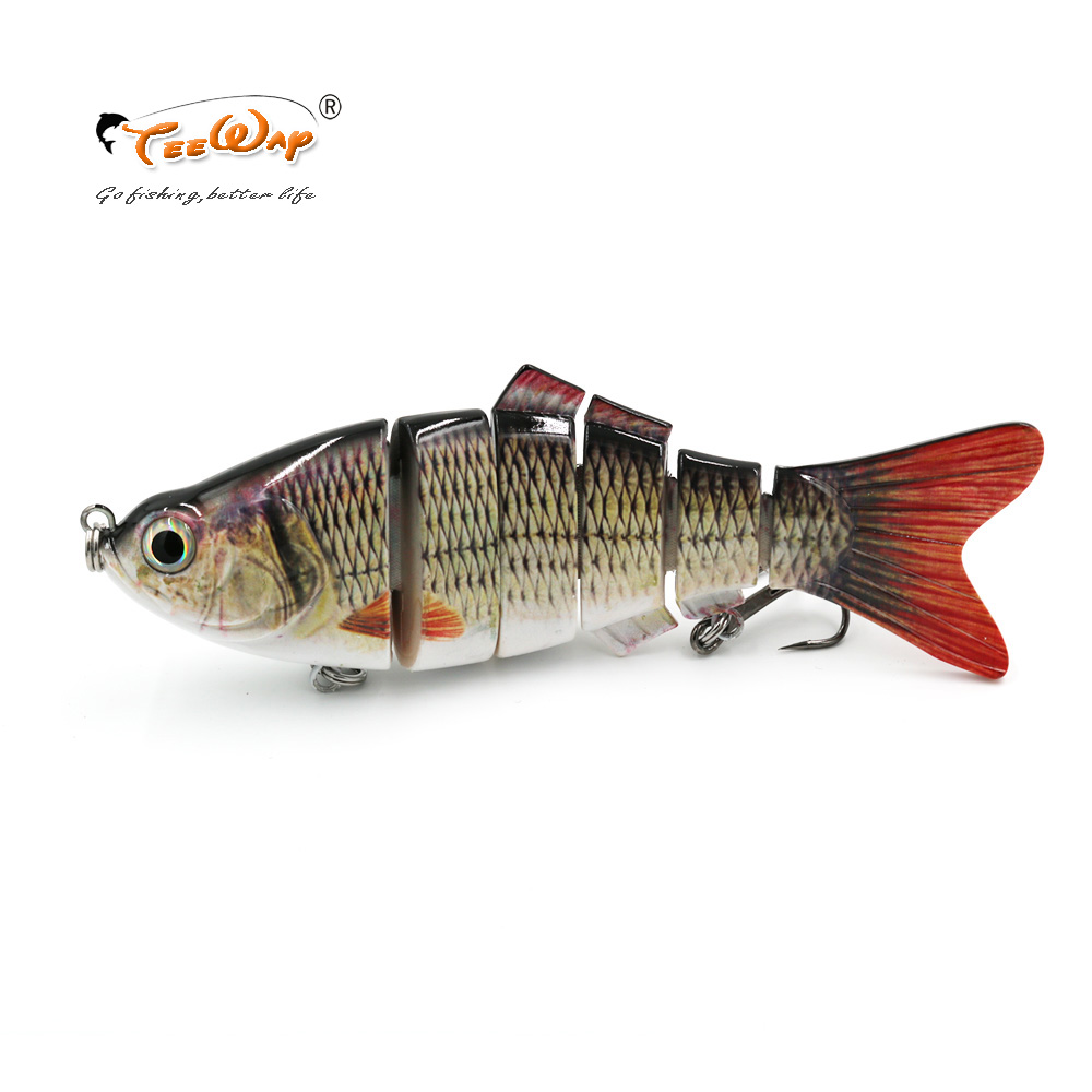 Big Fishing Lure 6 Segmento Swimbait Crankbait Hard Bait Lento 110g 20 cm com gancho De Pesca tamanho FL6-B05