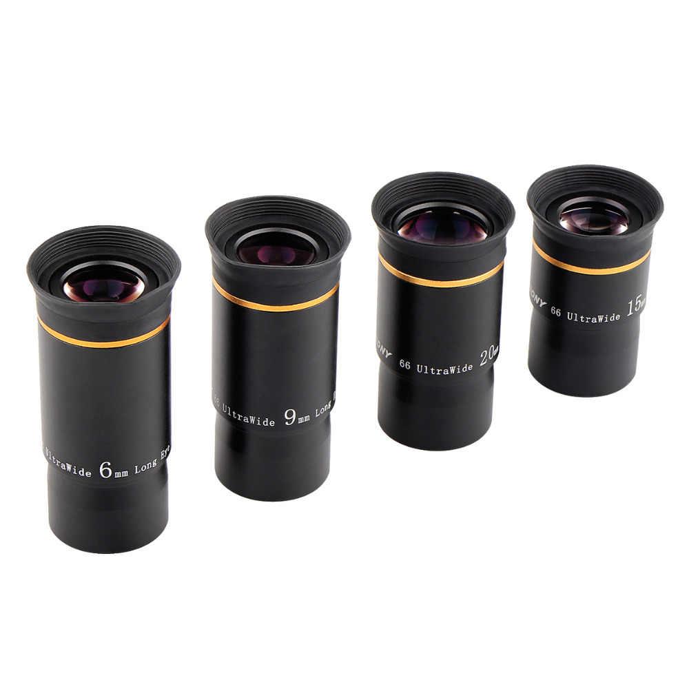 """SVBONY 1.25 """"Kit di accessori per telescopio 6/9/15/20mm 66 De Set di oculari per telescopio FMC Ultra grandangolare per telescopio monoculare Astro"""