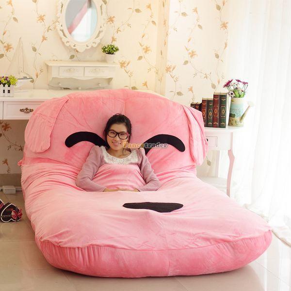 Fancytrader 190cm X 135cm Lovely Stuffed Soft Plush Pink Dog Bed Tatami Mattress Sofa, Free Shipping FT50661 mattress