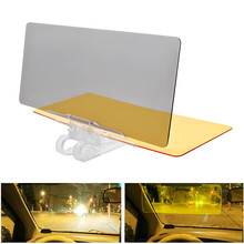 купить Car Sun Visor Mirror HD Day Night Vision Vehicle Driving Mirror Auto Anti Sunlight Dazzling Goggle UV Fold Flip Down Clear View по цене 519.59 рублей