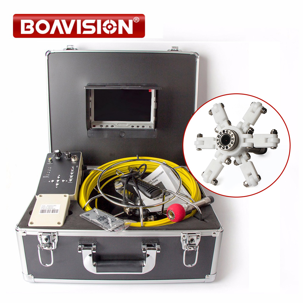 Drain Pipe Inspection Camera System Equipment With DVR Function 7 LCD Monitor 20m Cable 1000TVL Camera Night Vision 7 inch tft lcd monitor built in dvr camera system inspection borescope 1000tvl with 20m cable pipe sewer camera aluminum case