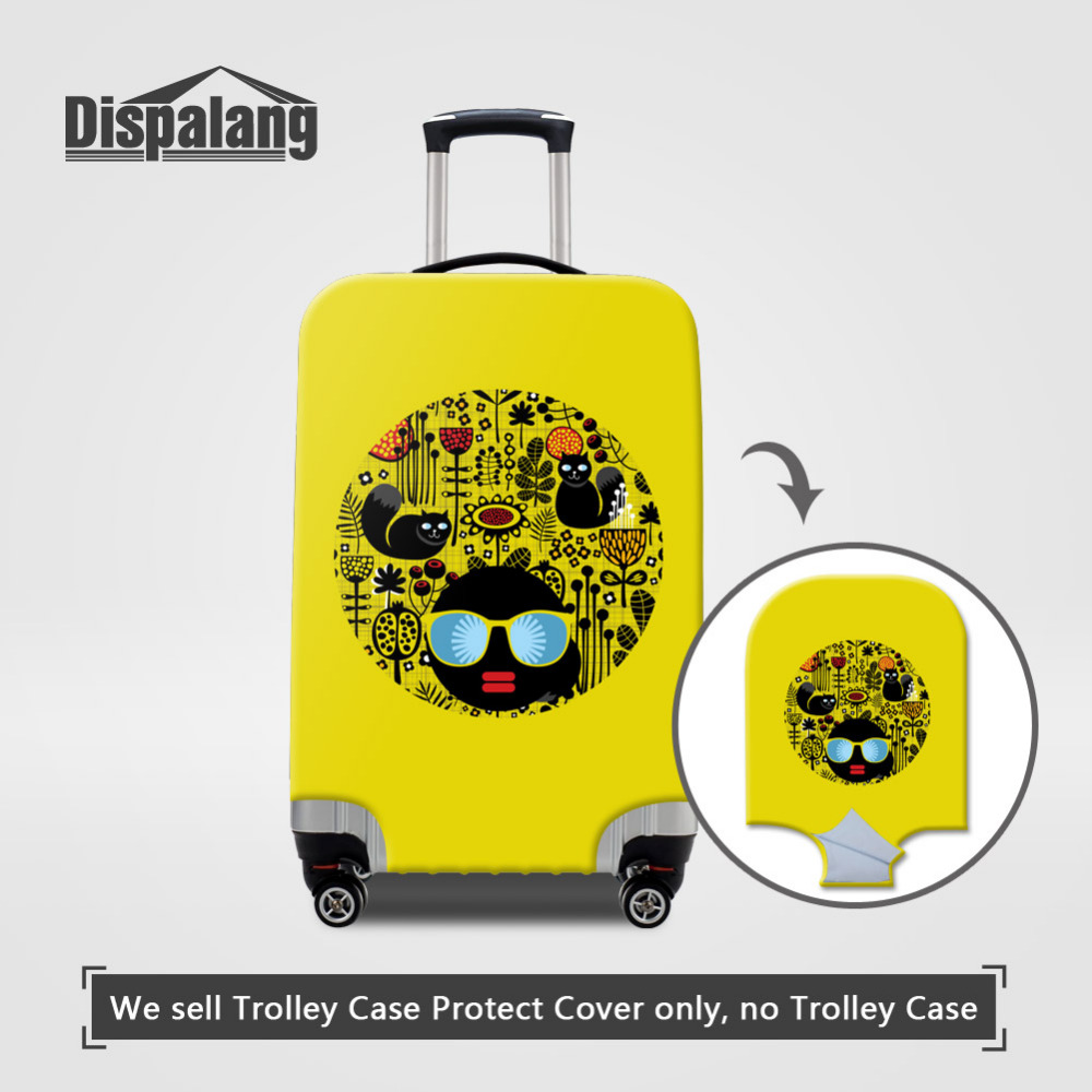 Dispalang Protective Dust Luggage Cover Cat Striped Travel Luggage Cover Suit for 18-30 inch Case Elastic Suitcase Cover