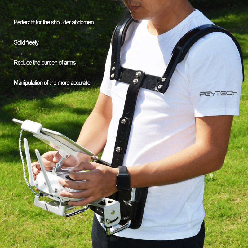 ФОТО PGY Drone controller carrier RC remote control DJI phantom 2 3 4 inspire 1 Futaba ronin M Accessories support Shoulder Holder