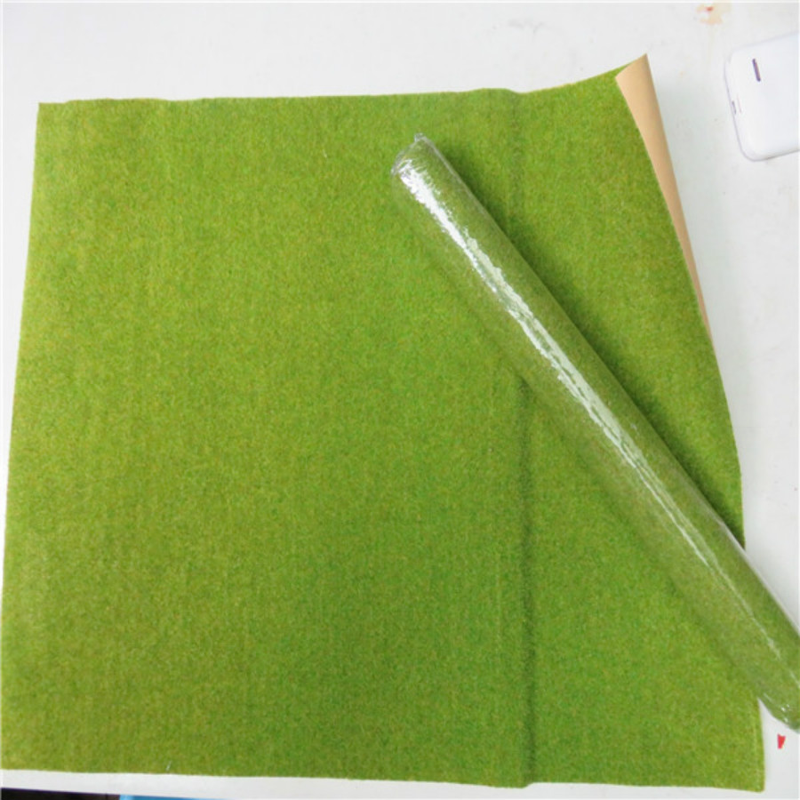25*25cm Landscape Yellow Green Grass Mat For Model Train Building Paper Scenery Layout Lawn Ho Train Layout