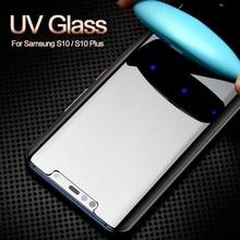 Nano Liquid Screen Protector For Samsung Galaxy S10 Plus Tempered Glass Full UV S9 S8 Note 8 9 10 Pro S7E