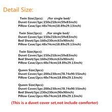 Galaxy Bedding Sets 2pcs/3pcs/4pcs Single/Queen Size Bedclothes Bed Linen Mysterious Outer Space Duvet Cover Set drop ship
