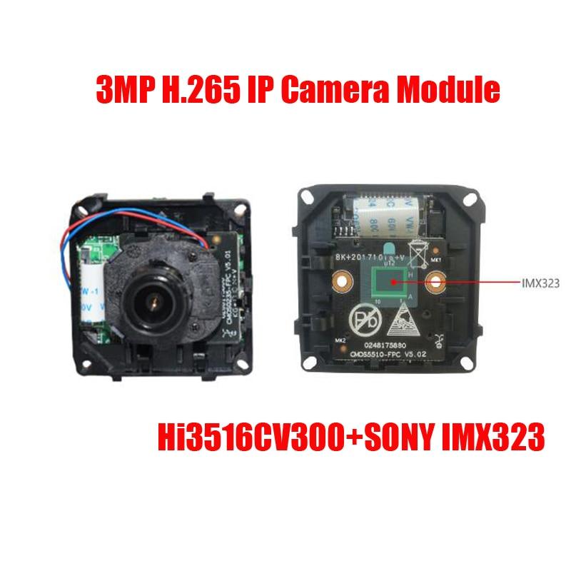 Free Shipping h.265 sony imx 323 CMOS 3MP IP camera module HD IP Camera board CCTV IP Camera IP CAM