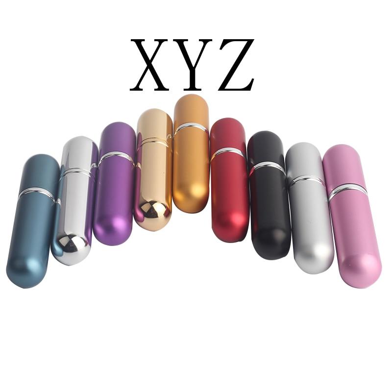 100pcs Hot 5ml Fillable Portable Mini Perfume Bottle Traveler Aluminum Spray Atomizer Empty Pots9 Colors Available